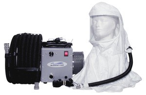 Breathe-cool II Supplied Air Respirator System w/tyvek hood